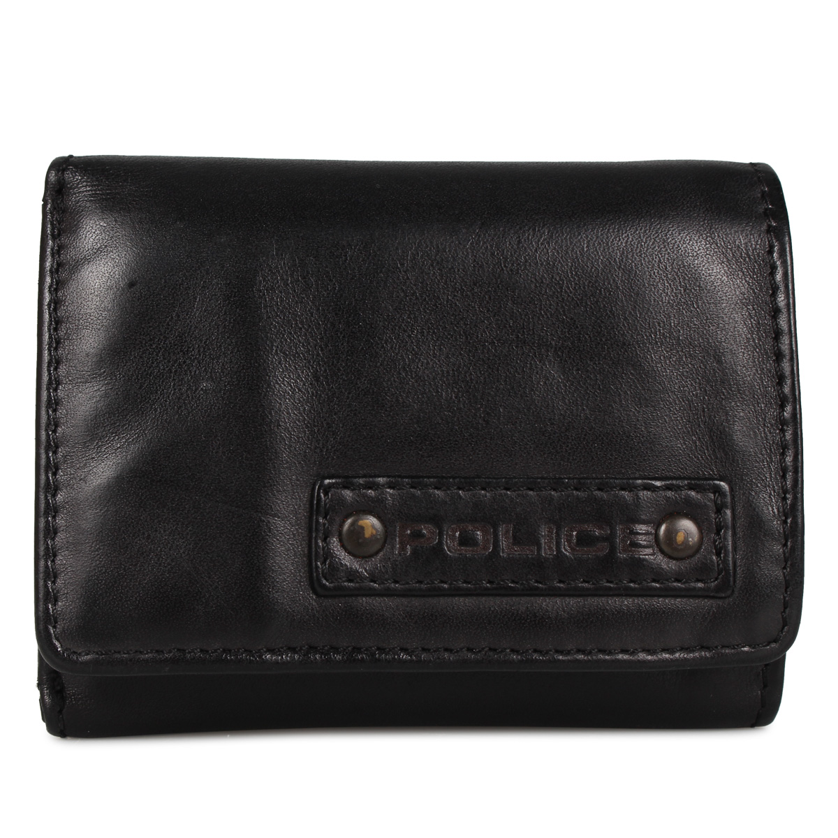 POLICE LAVARE WALLET ポリス 財布 二つ折り メンズ ラヴァーレ ブラック ネイビー キャメル 黒 PA-59605