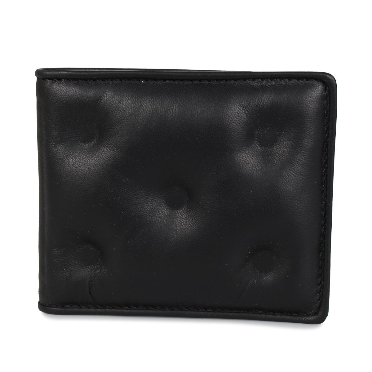 MAISON MARGIELA WALLET メゾンマルジェラ 財布 二つ折り メンズ レディース ブラック 黒 S55UI0280 [7/15 新入荷]