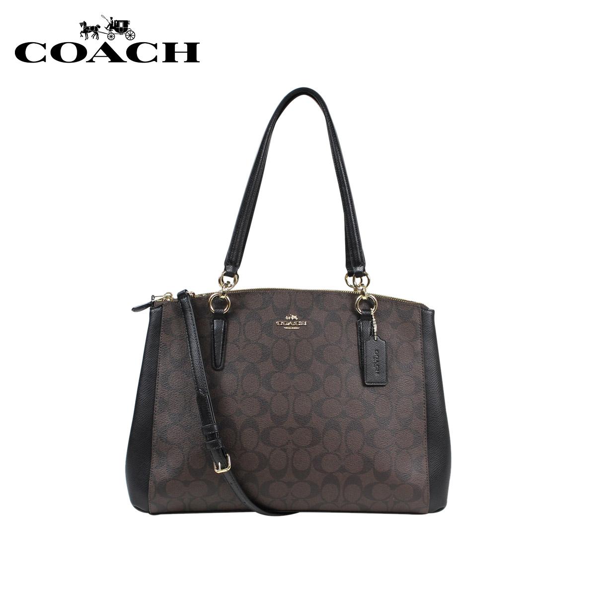 COACH教練包大手提包F36721棕色×黑色女士