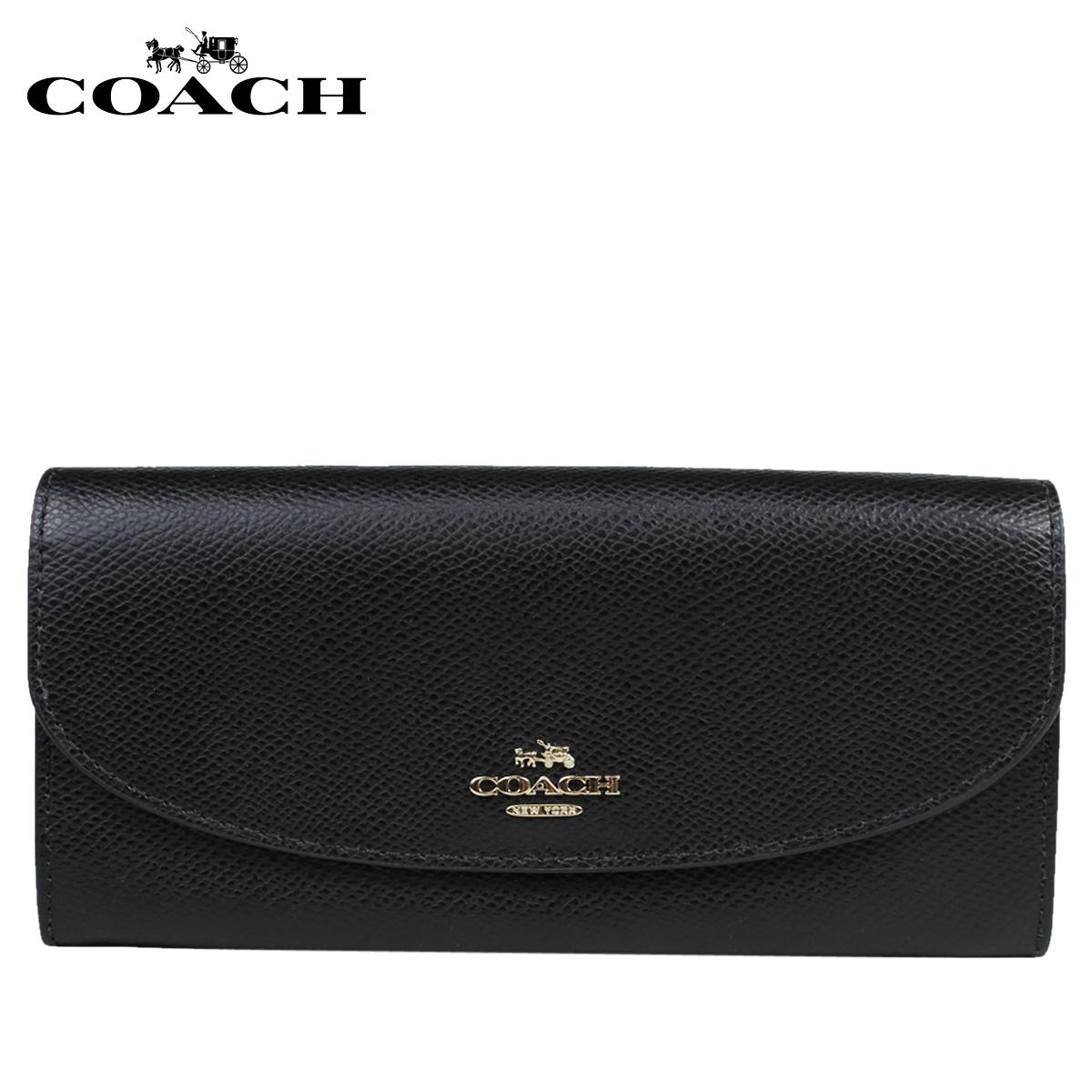 COACH コーチ 財布 長財布 F54009 ブラック レディース