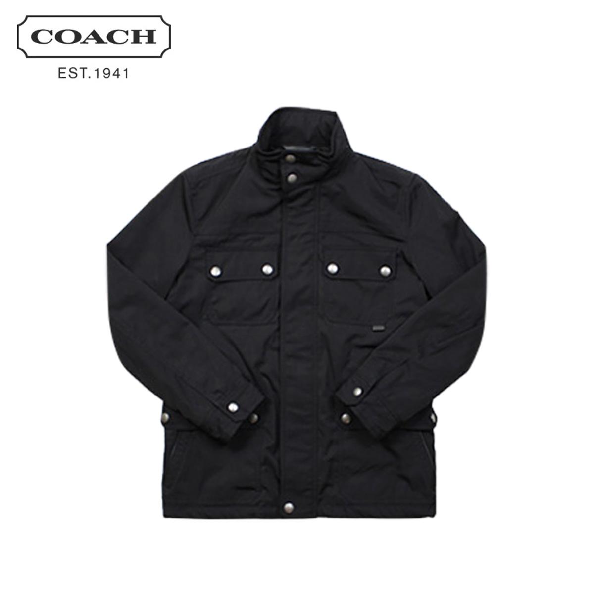 【最大600円OFFクーポン】 COACH コーチ メンズ ジャケット ブルゾン F82712 ネイビー
