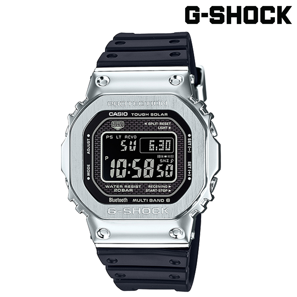 CASIO G-SHOCK カシオ 腕時計 GMW-B5000-1JF ジーショック Gショック G-ショック シルバー メンズ レディース