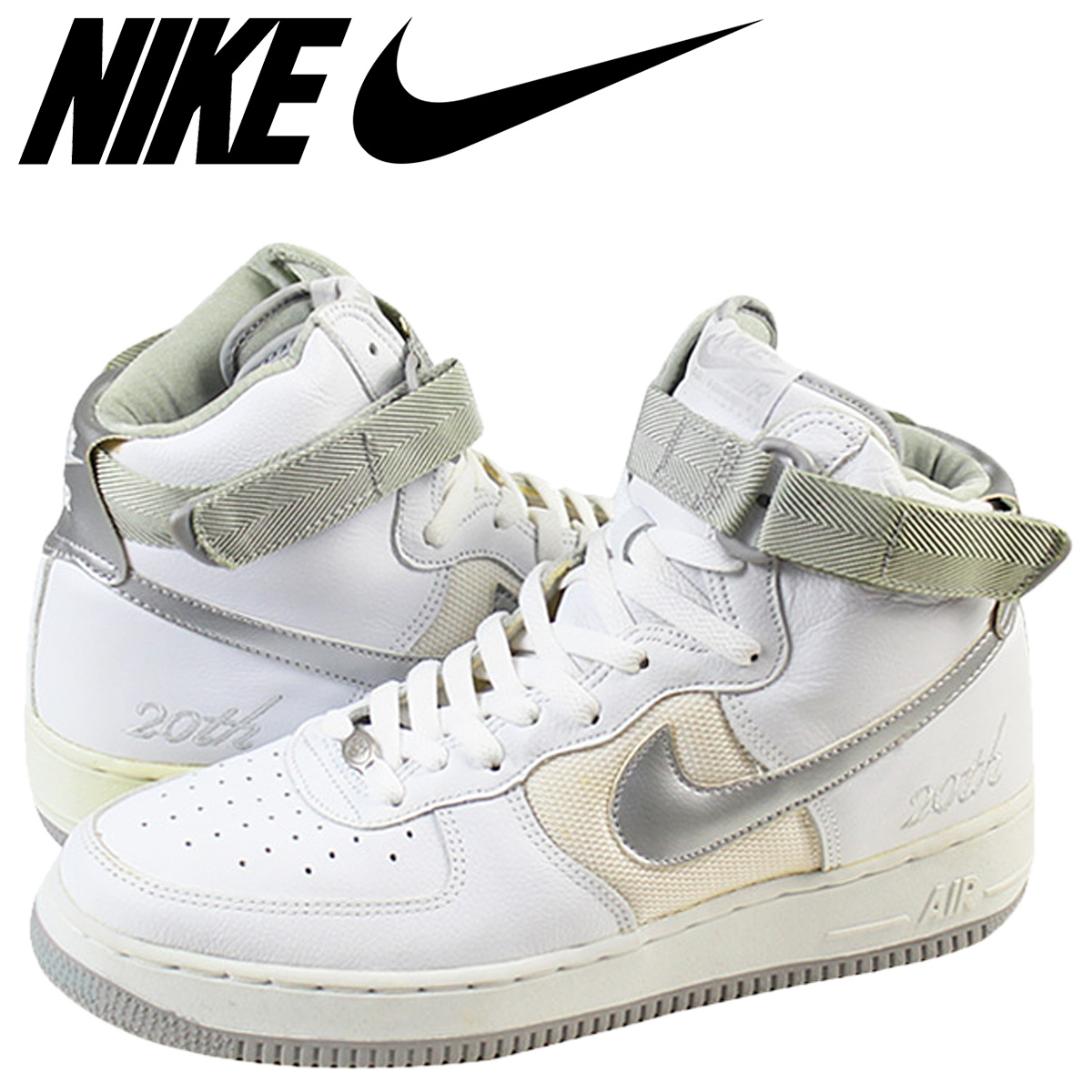 hot sale online c7e98 6b850 302,347-102 white men of the 20th anniversary of NIKE Nike air force 1  sneakers NIKE AIR FORCE 1 HI L M 20th air force 1 high