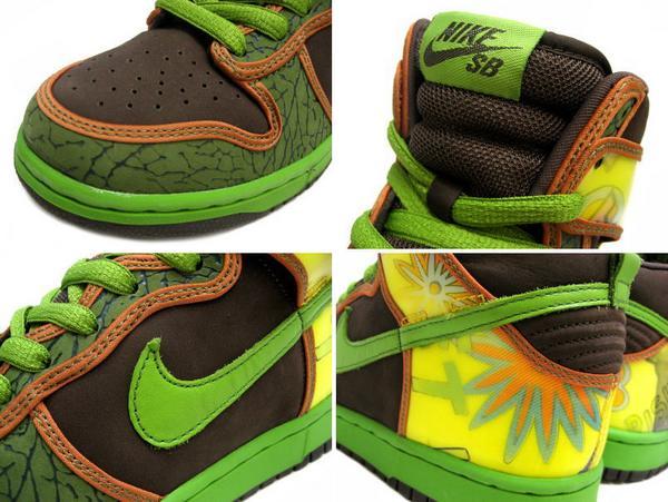 big sale 1f500 c0348 NIKE Nike dunk sneakers DUNK HIGH PRO SB DE LA SOUL dunk high professional  SB Delaware Sor 305,050-231 green men