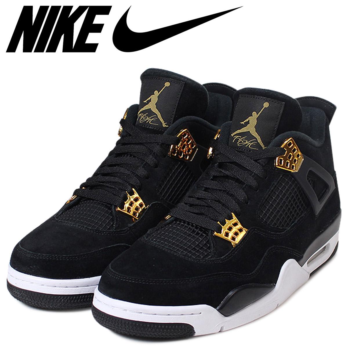prix compétitif 0f1a1 30380 Nike NIKE Air Jordan 4 nostalgic royalty sneakers AIR JORDAN 4 RETRO  ROYALTY men 308,497-032 black