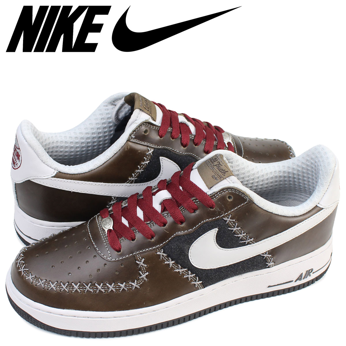 Nike NIKE air force 1 sneakers AIR FORCE 1 LOW PREMIUM UT UNTOLD TRUTH COLLECTION NEW YORK CUBANS men 313,461 001 shoes low brown