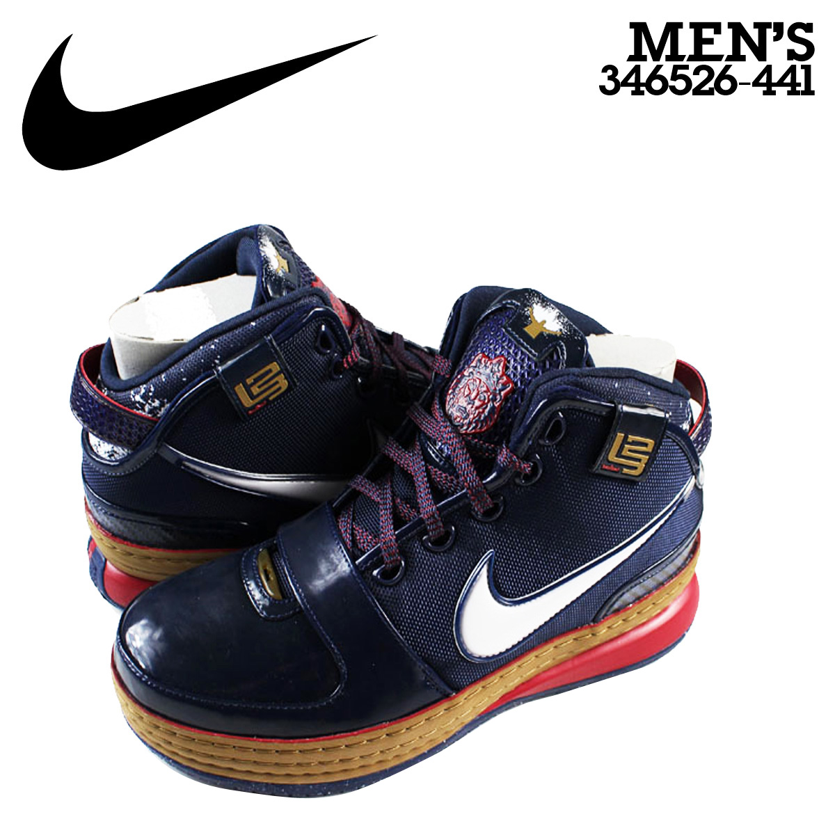 quality design 4d655 5637a NIKE Nike zoom Revlon sneakers ZOOM LEBRON 6 CHALK EDITION 346,526-441 navy  men