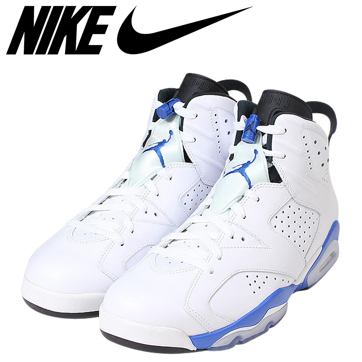 separation shoes 78676 35fc8 Nike NIKE Air Jordan 6 nostalgic sneakers AIR JORDAN 6 RETRO SPORTS BLUE  men 384,664-107 white
