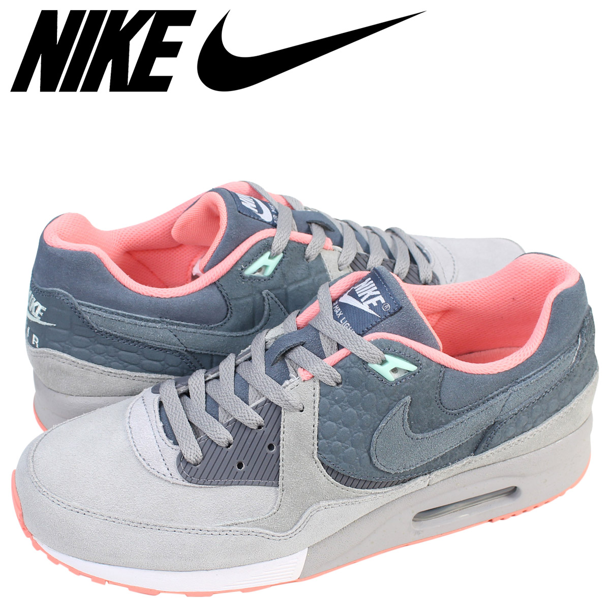finest selection ef8c0 30e6d Nike NIKE Air Max sneakers AIR MAX LIGHT PREMIUM QS salmon child  653,742-004 men s ...
