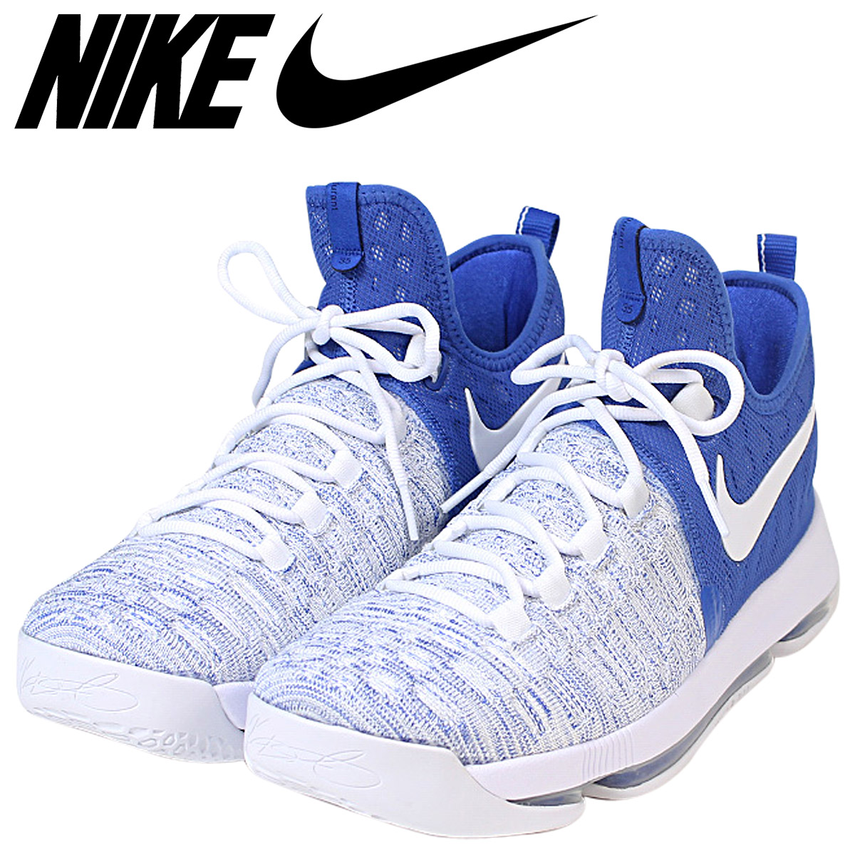best service a4202 eda6c Nike NIKE zoom KD9 sneakers ZOOM KD 9 EP GAME ROYAL men 844,382-411 Kevin  Durant white