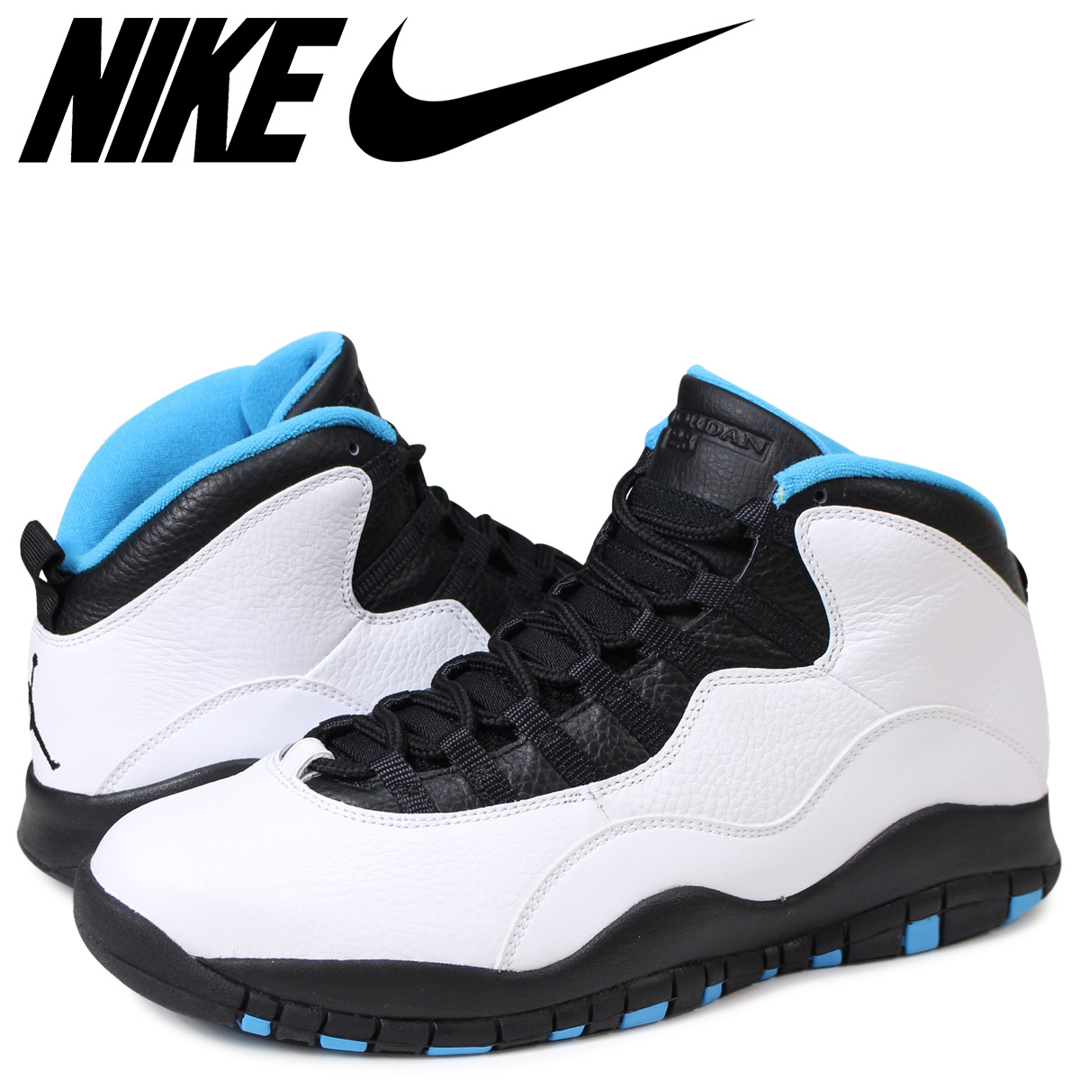 wholesale dealer 3e23b d80d7 Nike NIKE Air Jordan 10 nostalgic sneakers AIR JORDAN 10 RETRO black black  310,805-106