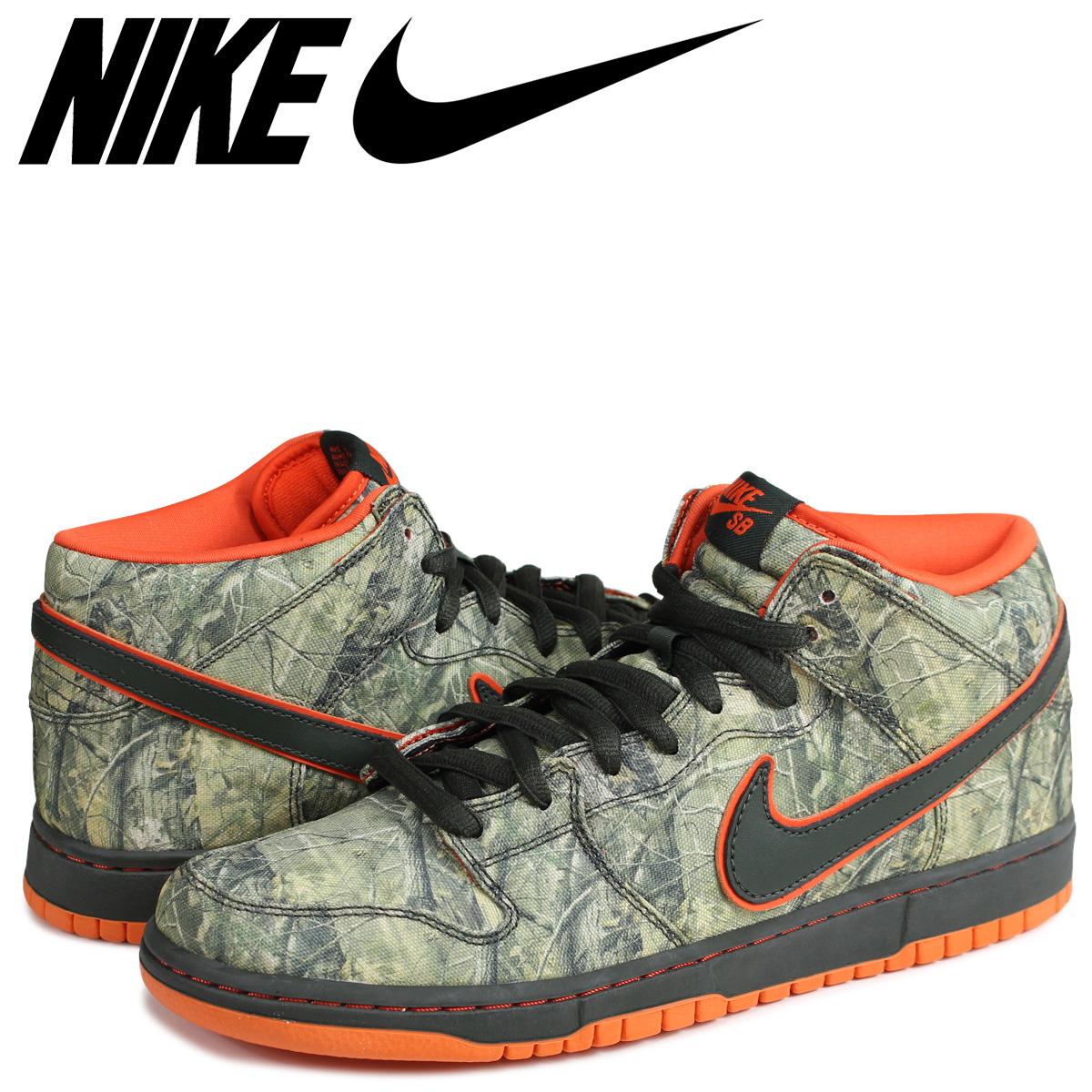 finest selection 187ce b50db NIKE SB DUNK MID PREMIUM REALTREECAMO Nike dunk sneakers 314,381-300 green  ...