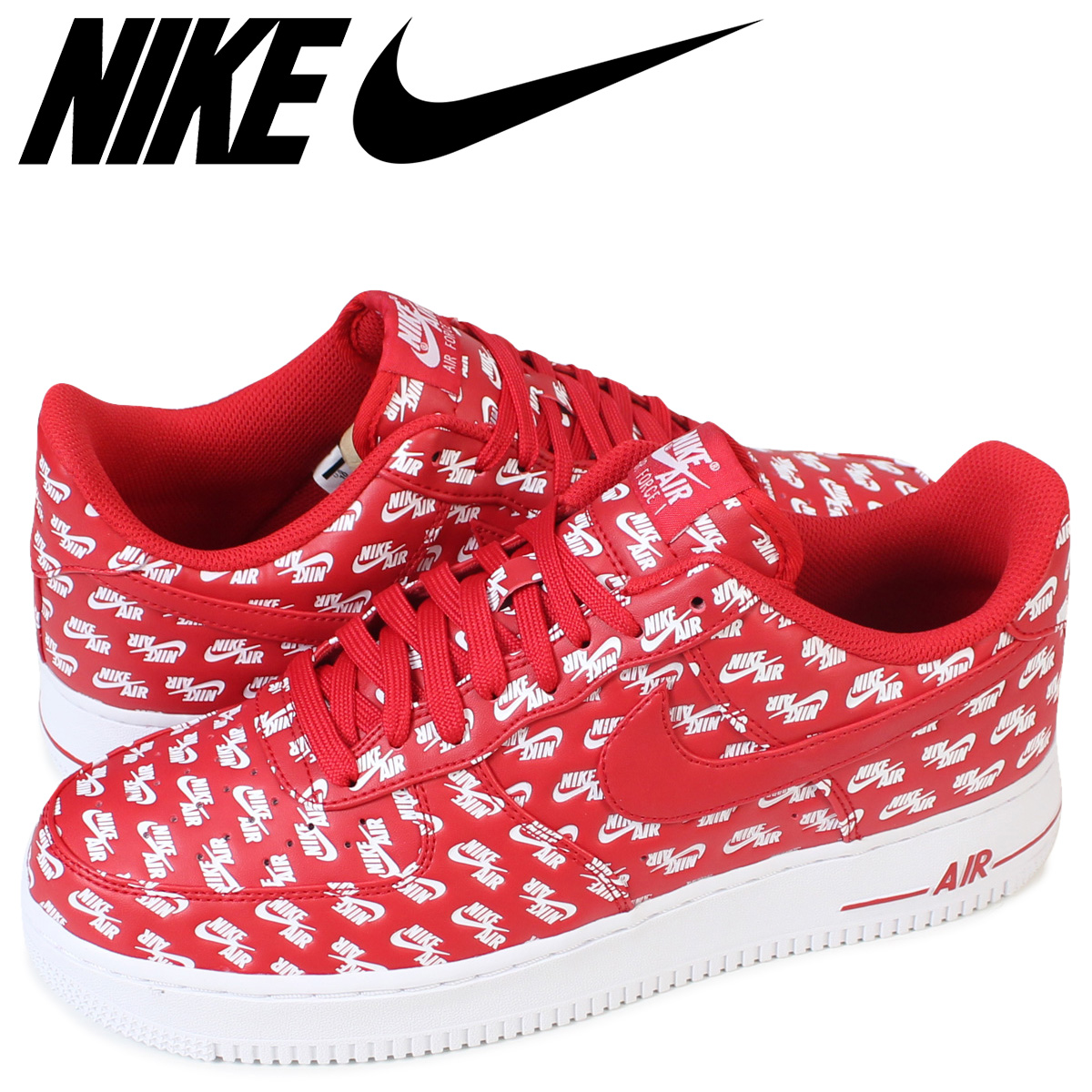 NIKE Nike air force 1 sneakers AIR FORCE 1 ALL OVER LOGO AH8462 600 low men shoes red