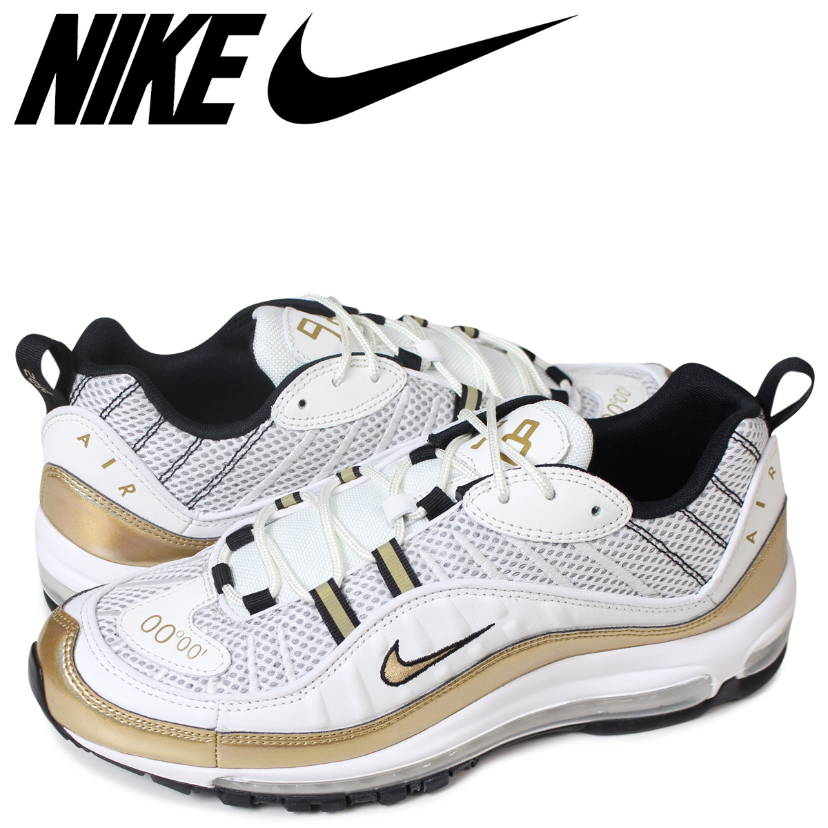 ead78a3a67 NIKE AIR MAX 98 UK GMT Kie Ney AMAX 98 sneakers men AJ6302-100 white ...