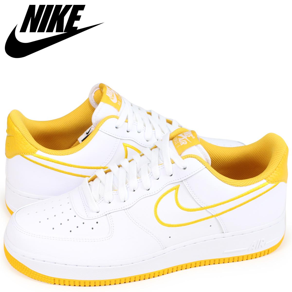 Nike Air Force 1 Low 07 LTHR White Yellow Ochre AJ7280 101