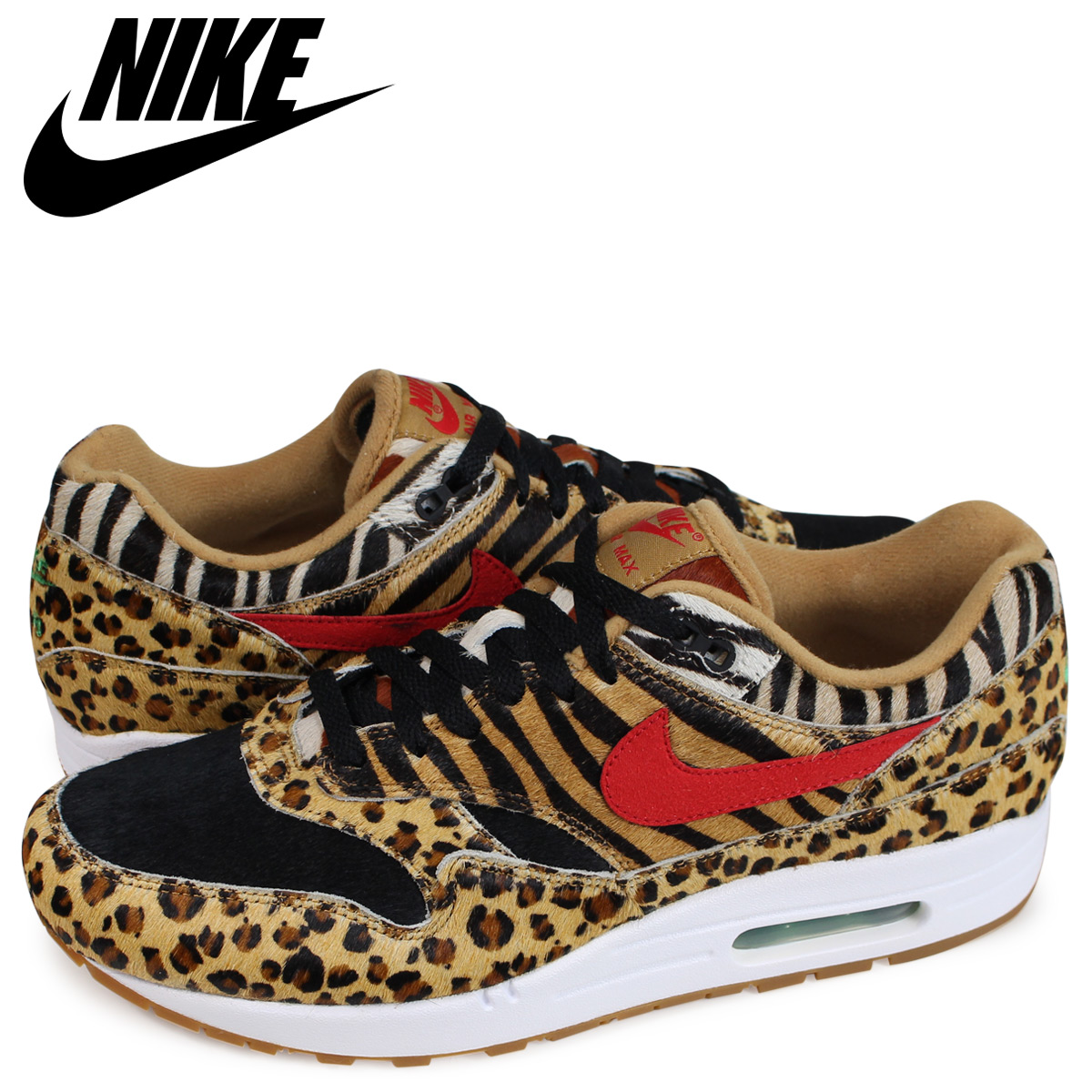 NIKE AIR MAX 1 DLX ANIMAL PACK Kie Ney AMAX 1 sneakers men AQ0928-700 ウィート 28b54433f