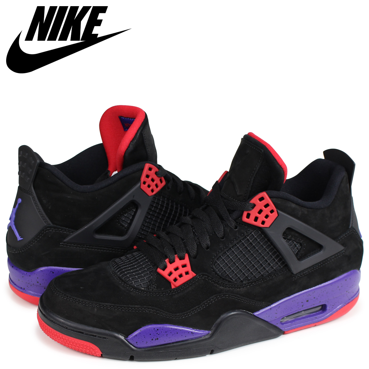 best choice classic many fashionable NIKE AIR JORDAN 4 RETRO NRG RAPTORS Nike Air Jordan 4 nostalgic sneakers  men AQ3816-065 black