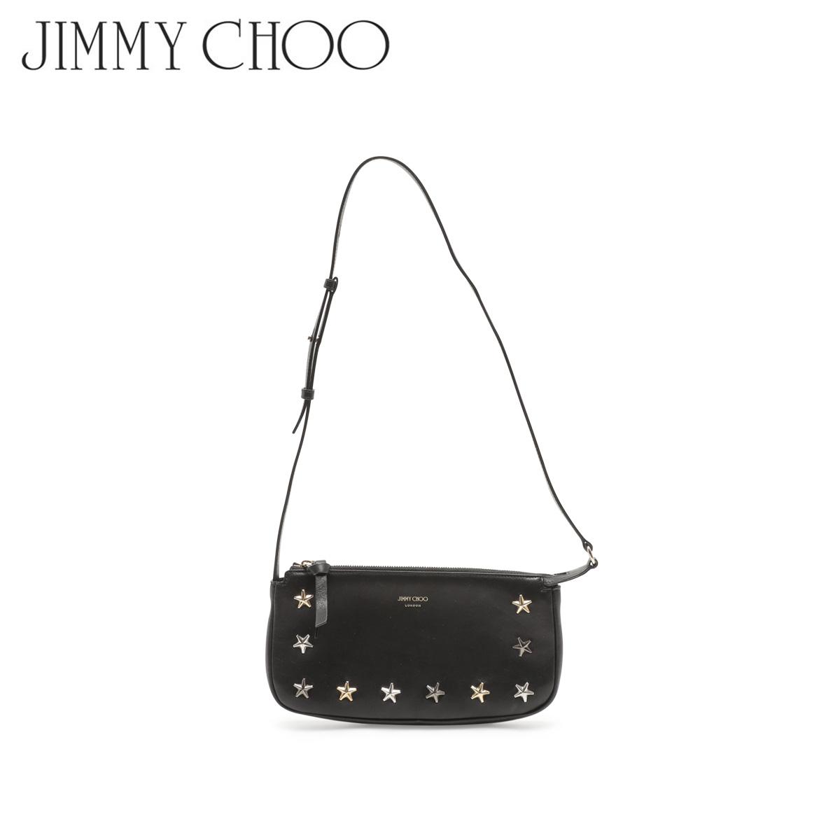 【訳あり】 JIMMY CHOO SHOULDER BAG ジミーチュウ バッグ ショルダーバッグ スタッズ レディース ブラック 1663-189 【返品不可】