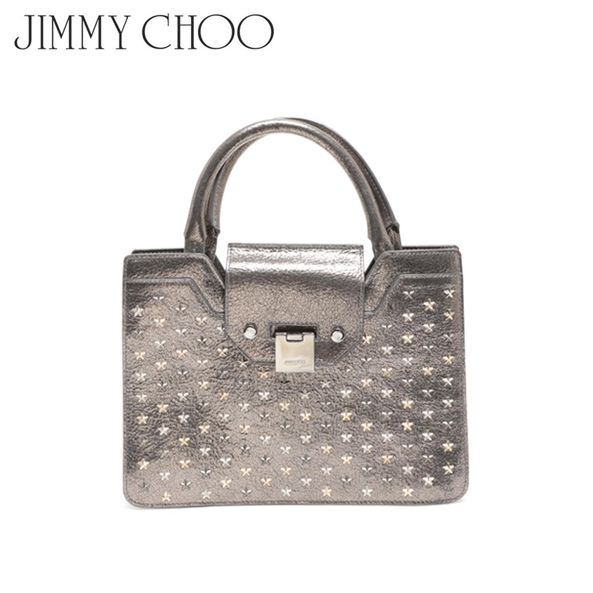 【訳あり】 JIMMY CHOO TOTE BAG ジミーチュウ バッグ トートバッグ スタッズ レディース シルバー 1116261 【返品不可】