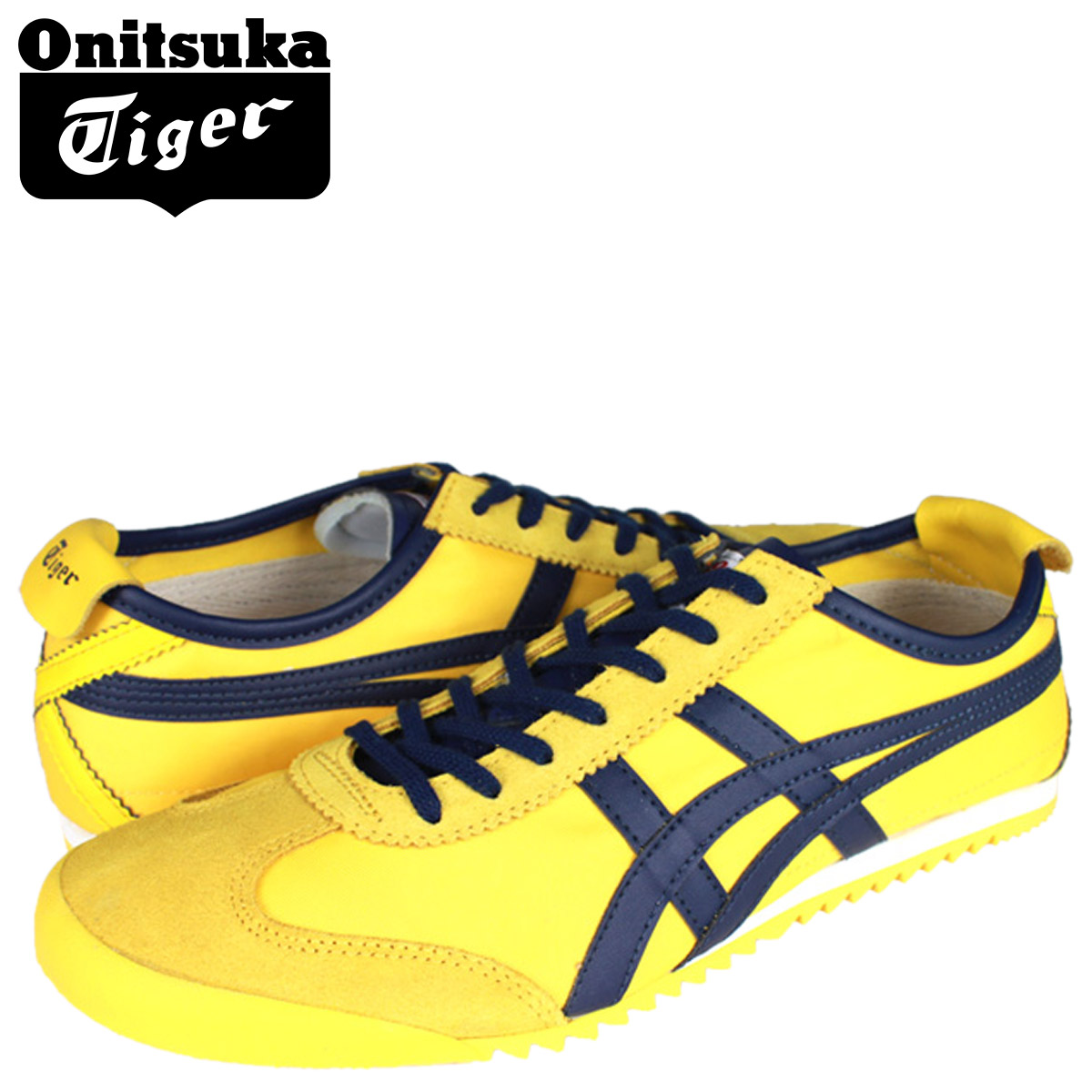 premium selection 25fb6 f48e1 [SOLD OUT] ONITSUKA Tiger ASICs Onitsuka Tiger asics sneakers yellow blue D  013N-0442 MEXIC 66 DX men's