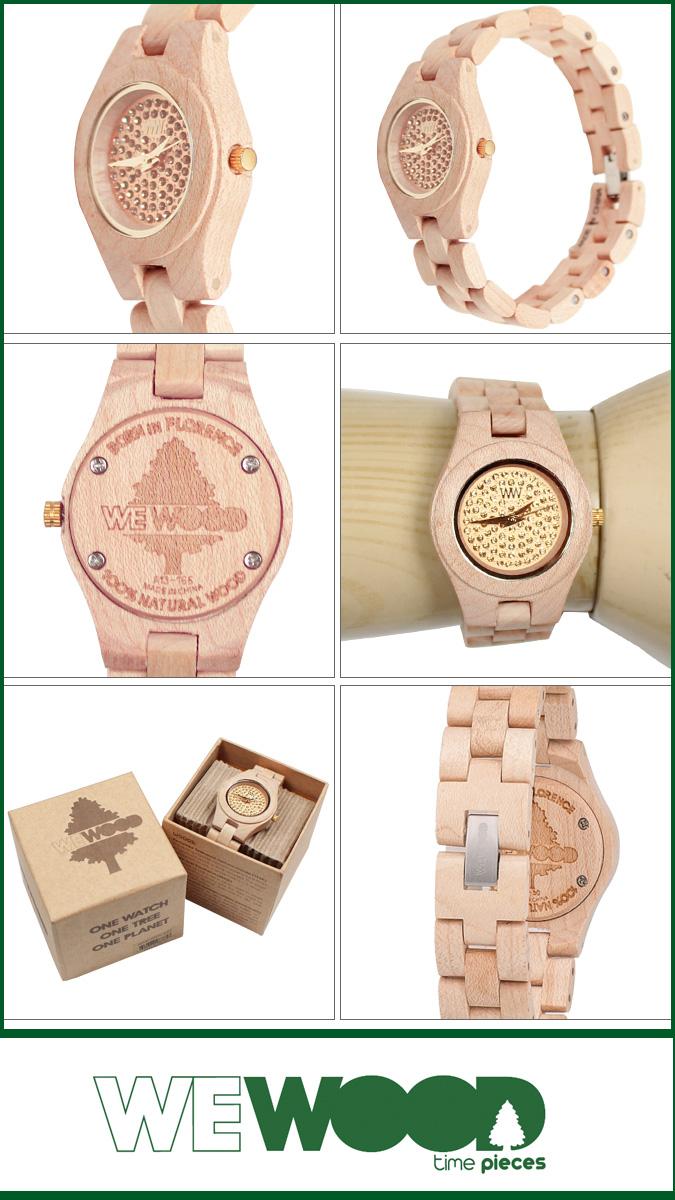 WEWOOD ウィーウッド レディース 腕時計 MOON CRYSTAL ベージュ BEIGE NATURAL WOOD ムーン クリスタル ウォッチ 時計