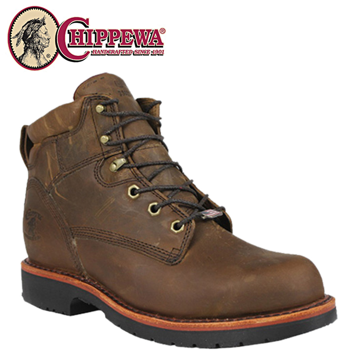dc6de7f9848 [SOLD OUT]-Chippewa CHIPPEWA Bay Apache 25202, 6 inch work boots 6INCH BAY  APACHE 2 wise leather men's