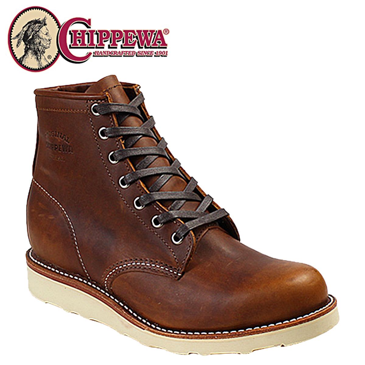 CHIPPEWA 6INCH PLAIN TOE WEDGE BOOT チペワ ブーツ 6インチ プレーン トゥ ウェッジ ブーツ 1901M17 Dワイズ タン メンズ