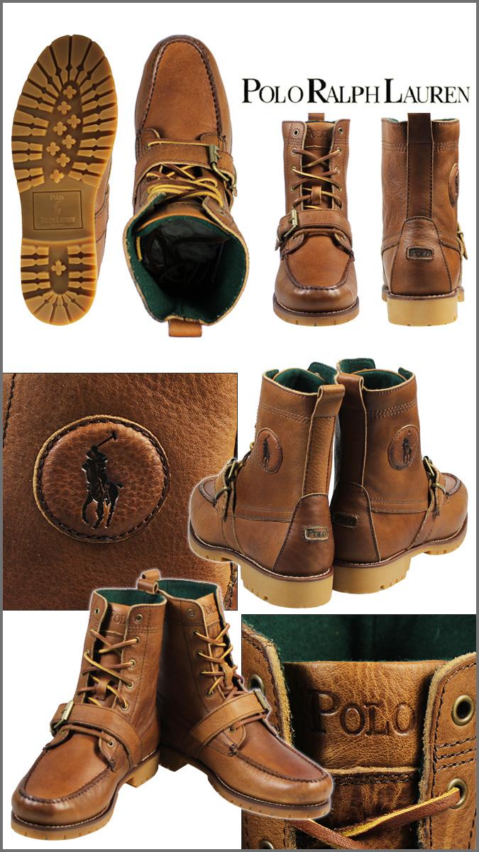 polo ralph lauren men's leather boots