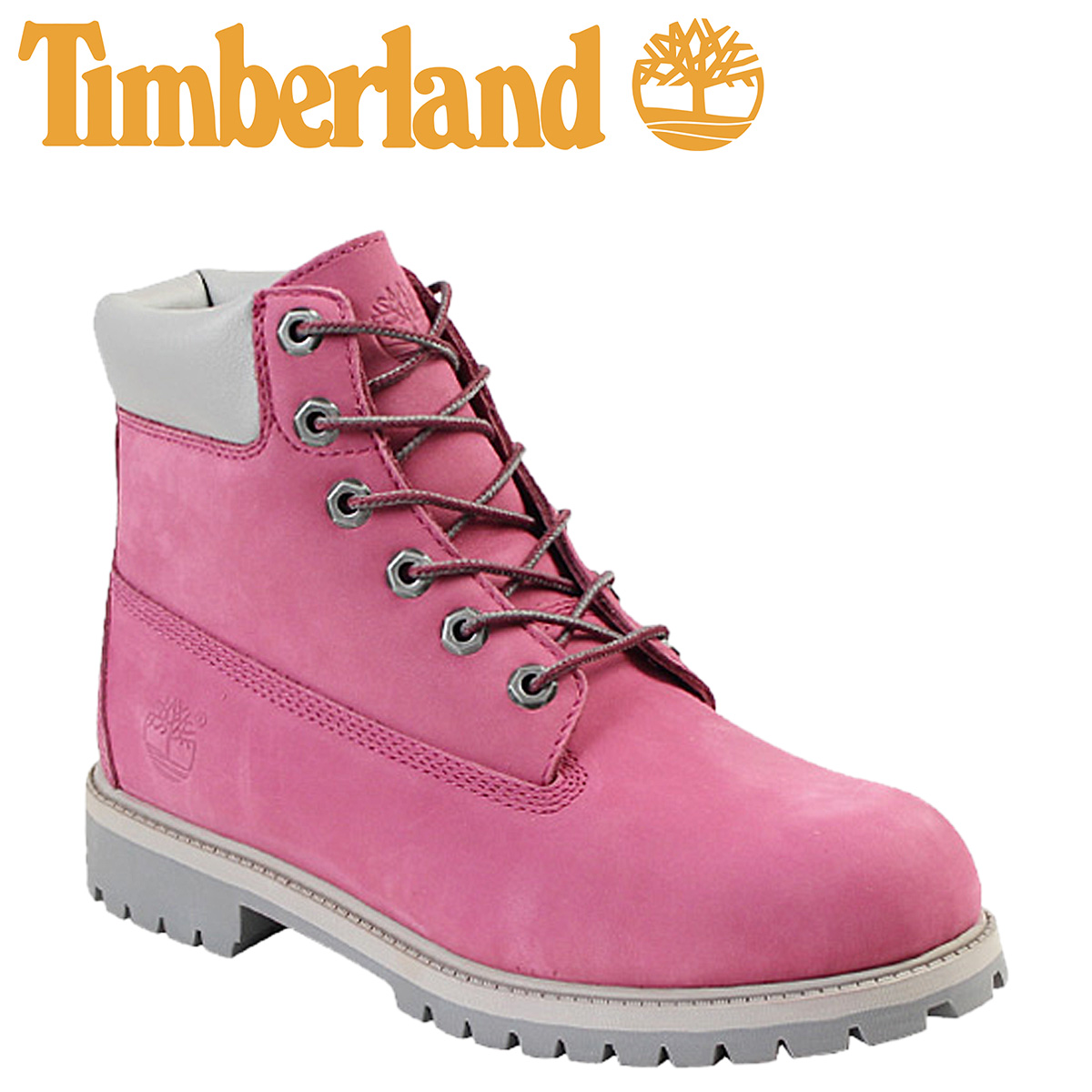 [SOLD OUT] Timberland Timberland 6 inches premium waterproof boots violet  42934 Youth Premium Wataerproof Boot leather youth kids child GS Lady's