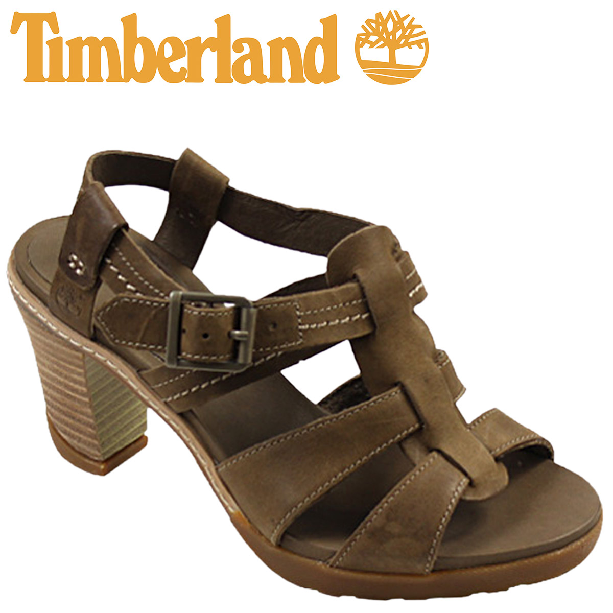 unique design outlet on sale wholesale dealer [SOLD OUT] Timberland Timberland Womens kids Earthkeepers Stratham heights  sandal ankle strap [Dark Brown] EK STRATHAM HEIGHT SDL ANK leather 8139R