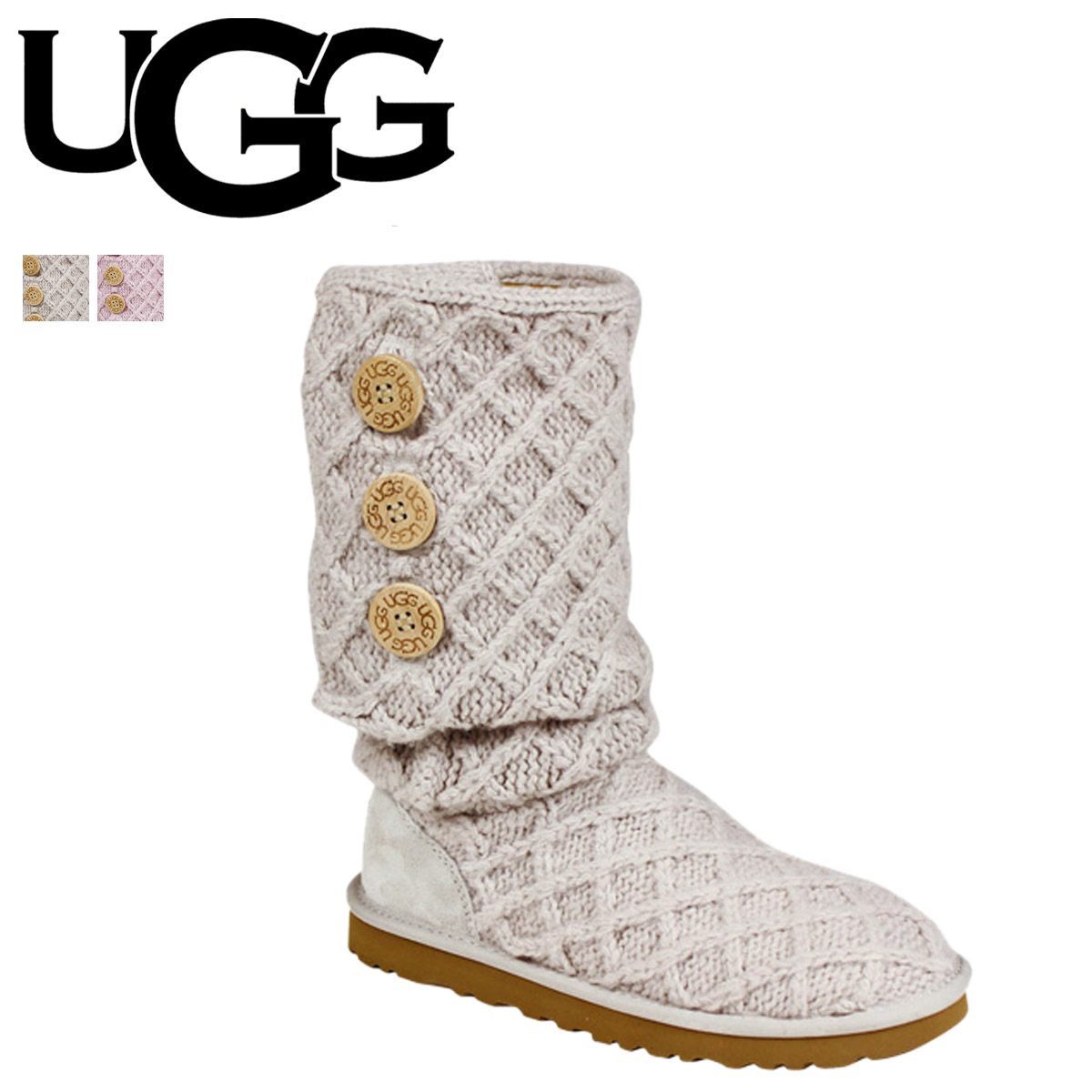UGG UGG lattice CARDI boots WOMENS LATTICE CARDK 3066 Sheepskin knit ladies