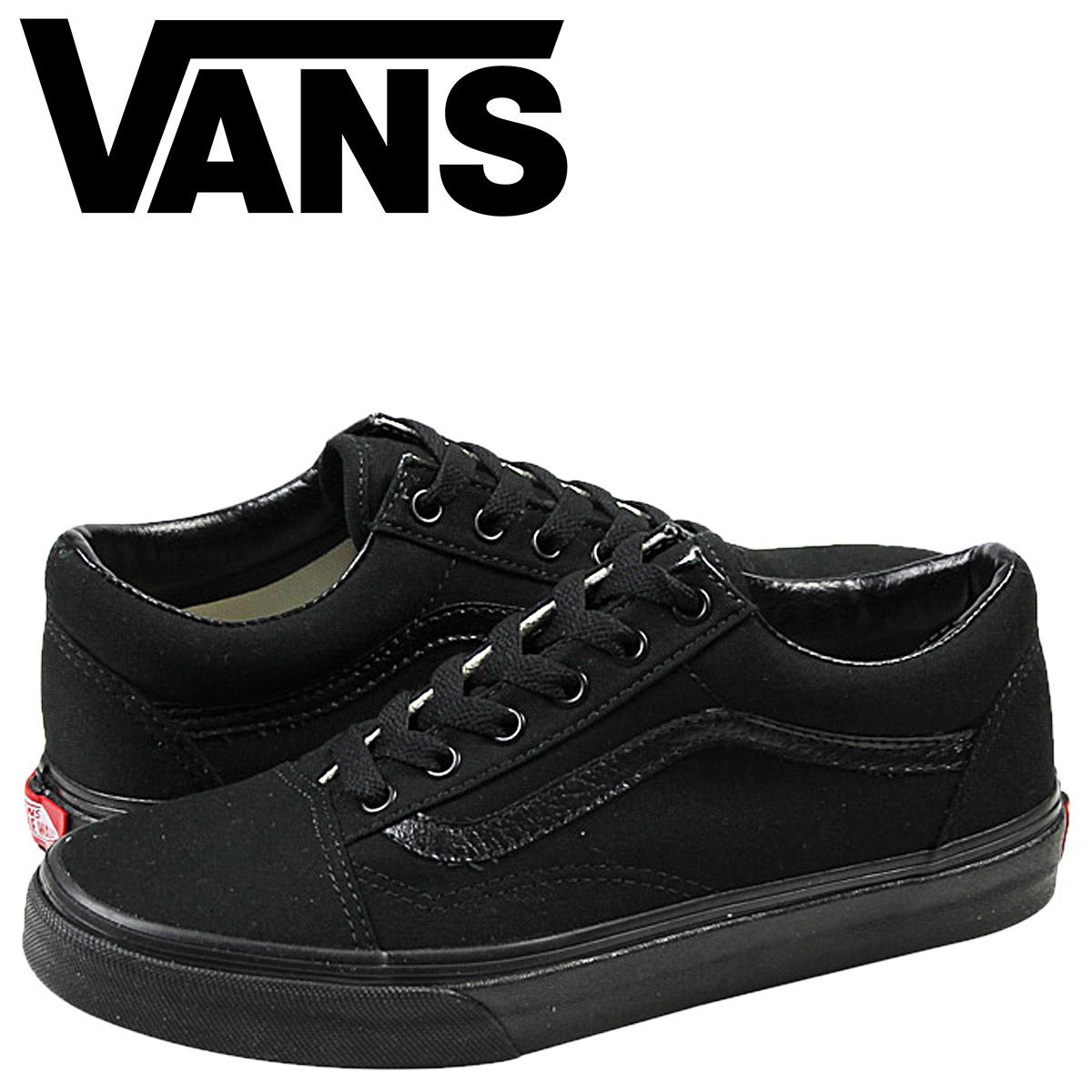 all black vans old skool womens