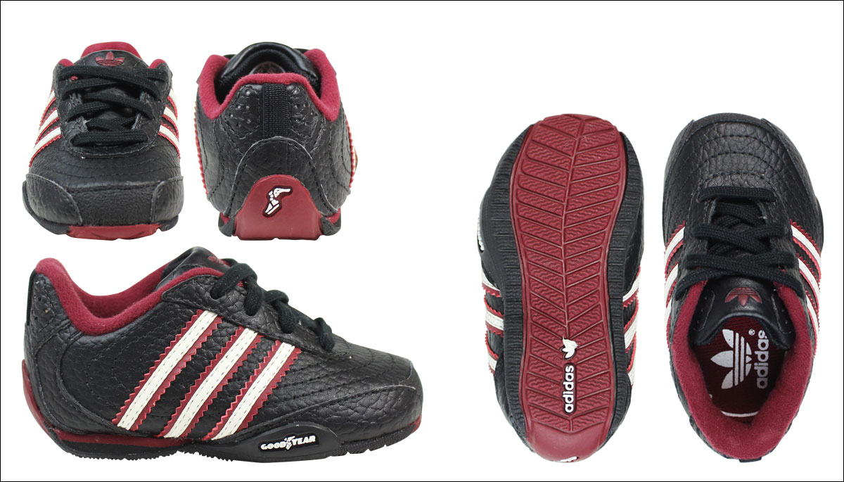 adidas goodyear shoes black red