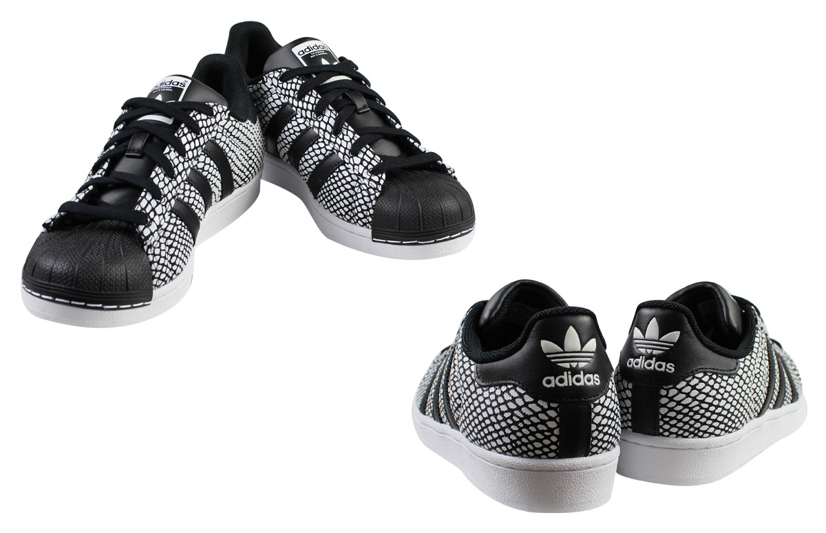 adidas Originals adidas originals superstar sneakers SUPERSTAR SNAKE PACK S81728 men's women's shoes black