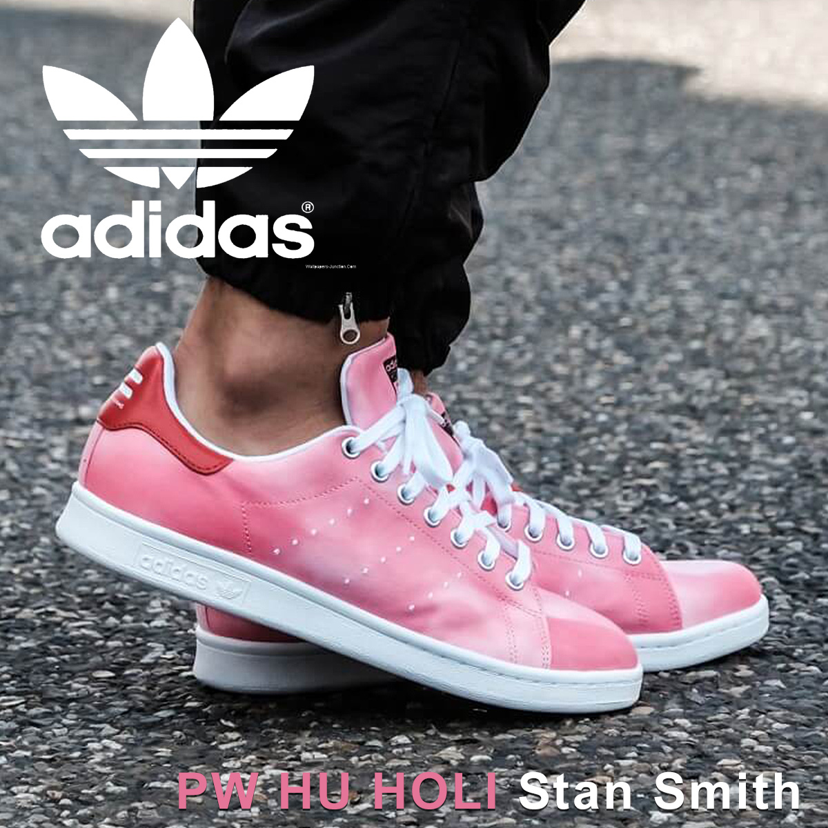 newest 1e3ba 6fa72 adidas Originals PW HU HOLI STAN SMITH Adidas Stan Smith sneakers Farrell  Williams men collaboration AC7044 red originals [3/20 Shinnyu load]