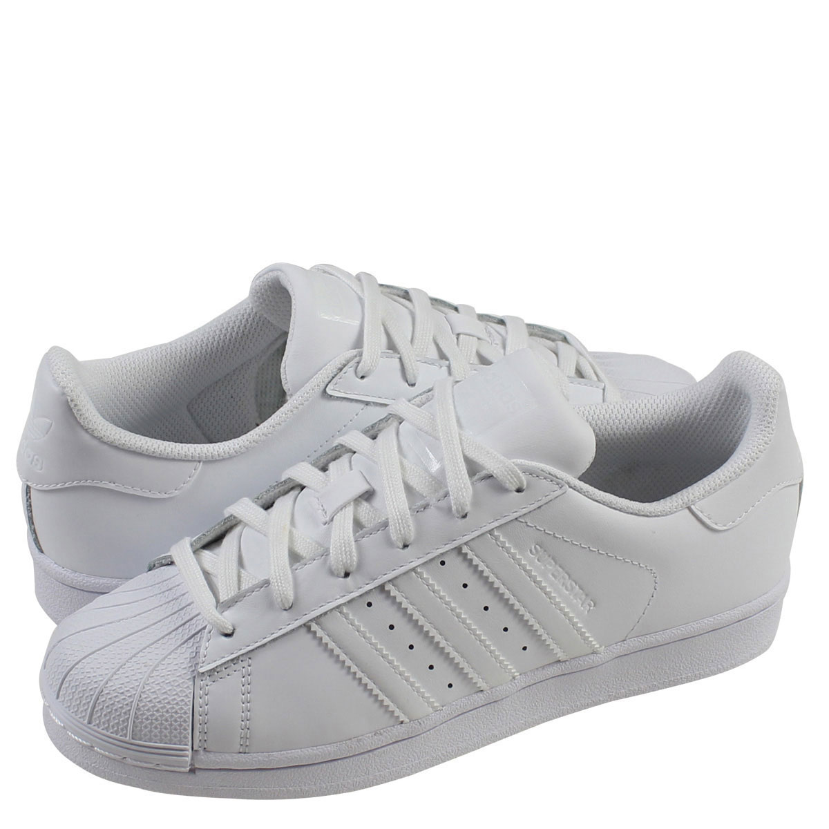 new product ba398 4ef53 adidas Originals adidas originals superstar sneakers Womens SUPERSTAR  FOUNDATION J B23641 shoes white