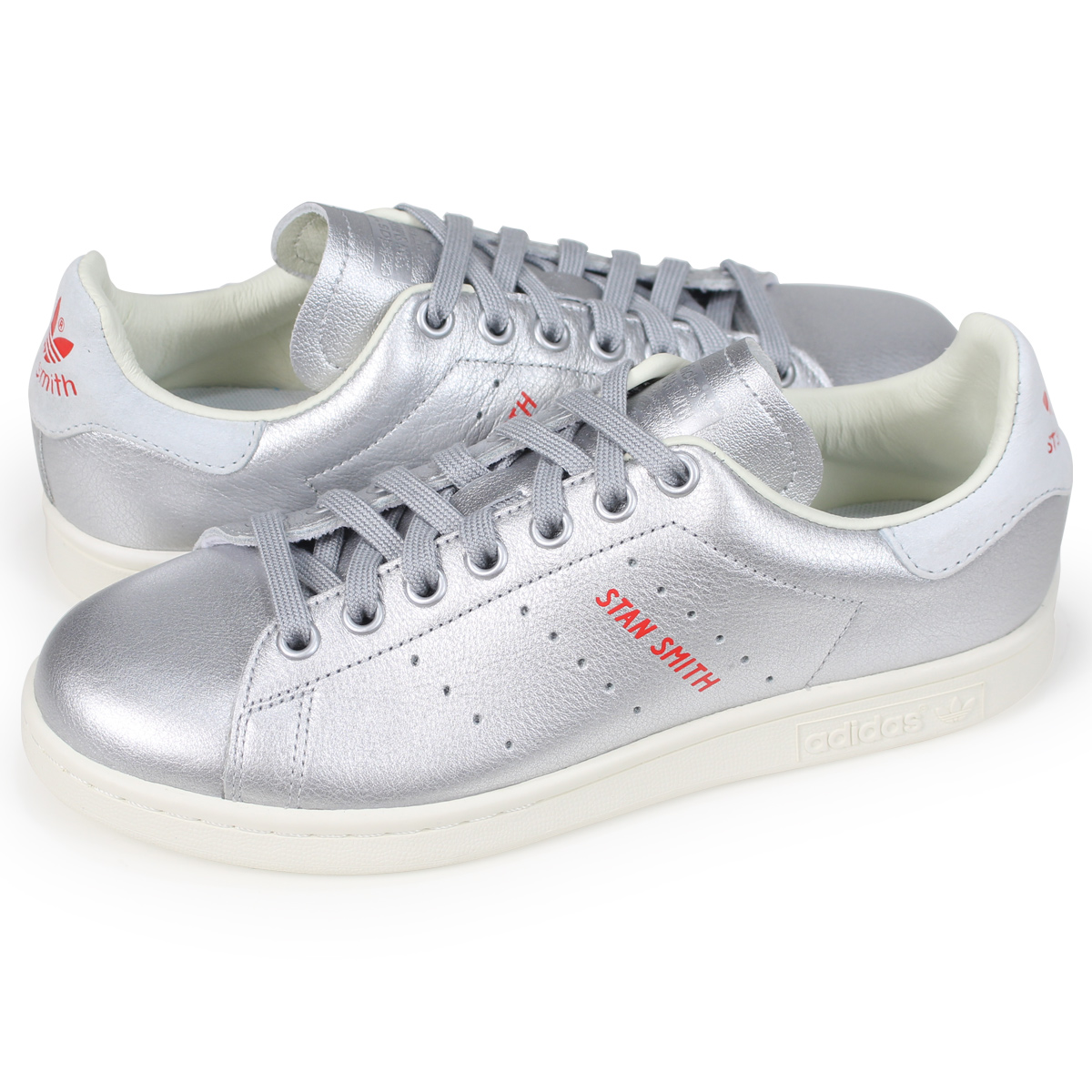 detailed look 38a37 6fc02 adidas Originals STAN SMITH W Adidas originals Stan Smith Ladys sneakers  B41750 silver load planned Shinnyu load in reservation product 620  containing