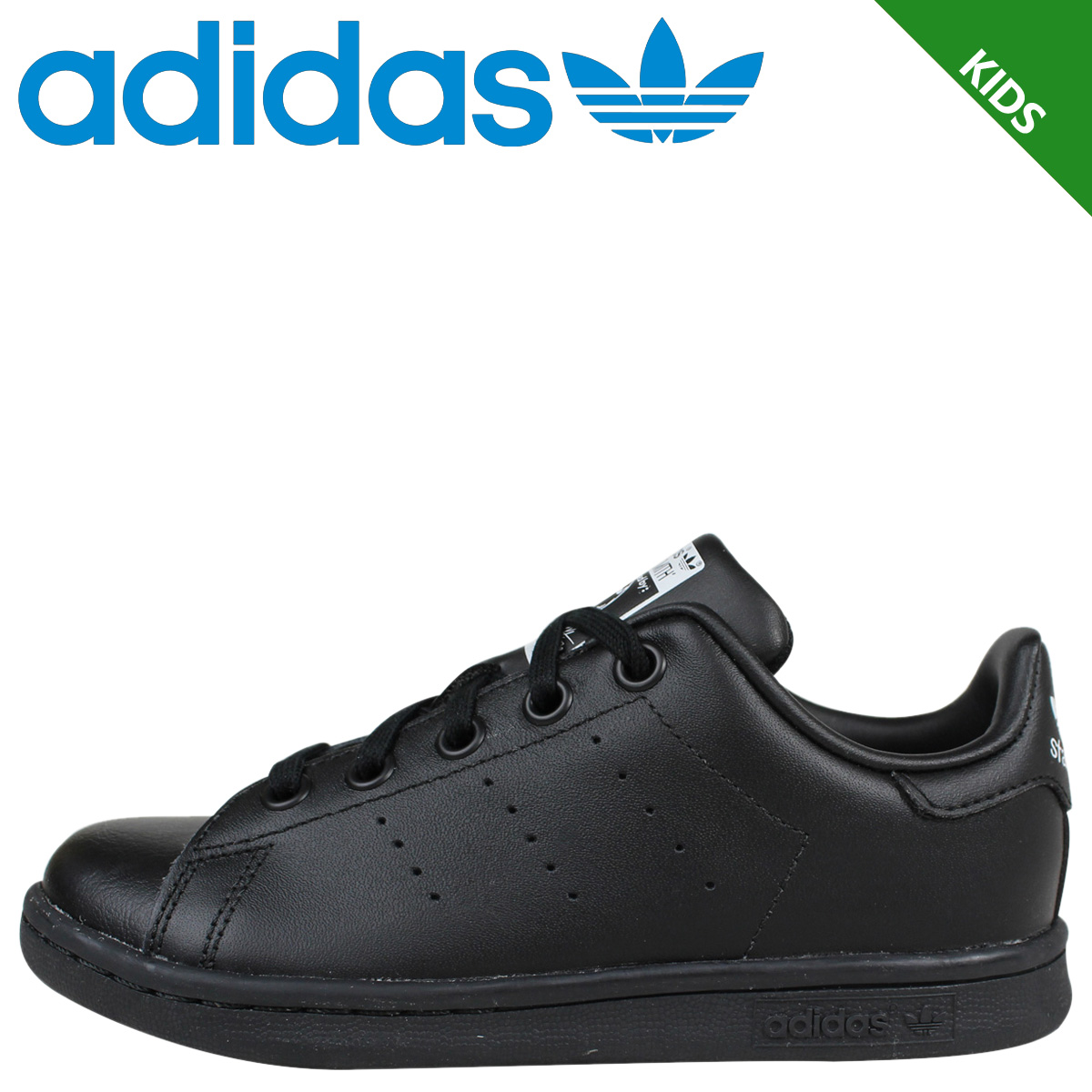 separation shoes 85183 3c942 adidas adidas Stan Smith sneakers kids STAN SMITH EL C BA8376 shoes black  [9/8 new in stock]