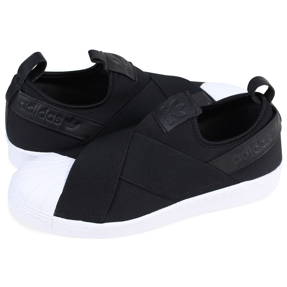 adidas Originals SUPERSTAR SLIP-ON Adidas superstar sneakers slip-ons men gap Dis BZ0112 black originals [1/30 Shinnyu load]