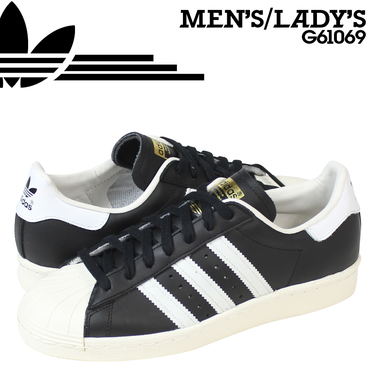 27e9830a Whats up Sports: adidas Originals adidas originals superstar sneakers  SUPERSTAR 80 s G61069 men's women's shoes black [8/5 Add in stock] |  Rakuten Global ...