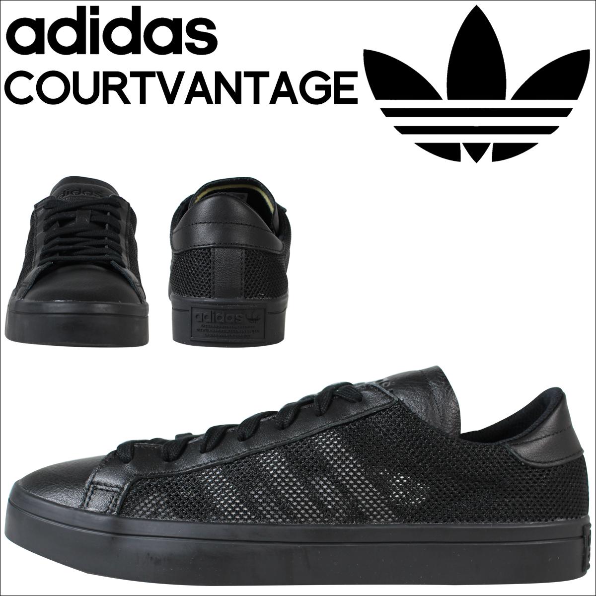 adidas originals court vantage black