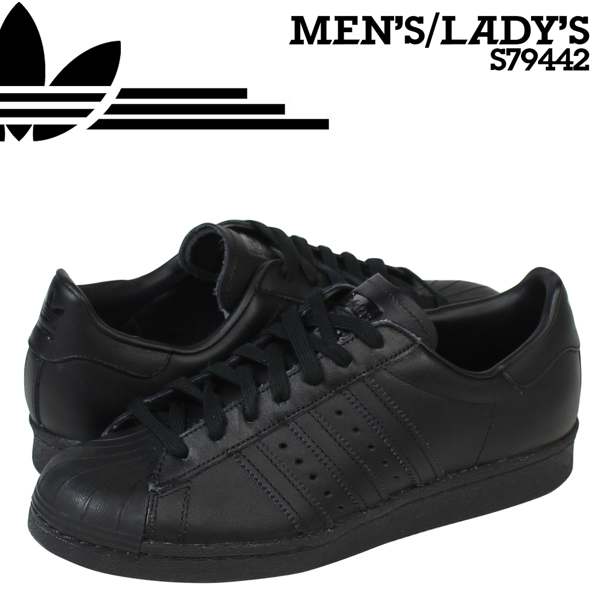 21ea81a9ea361 Whats up Sports  adidas Originals adidas originals superstar triple TNA sneakers  SUPERSTAR 80 s TRIPLE TONA S79442 men s women s shoes black  8 5 Add in ...