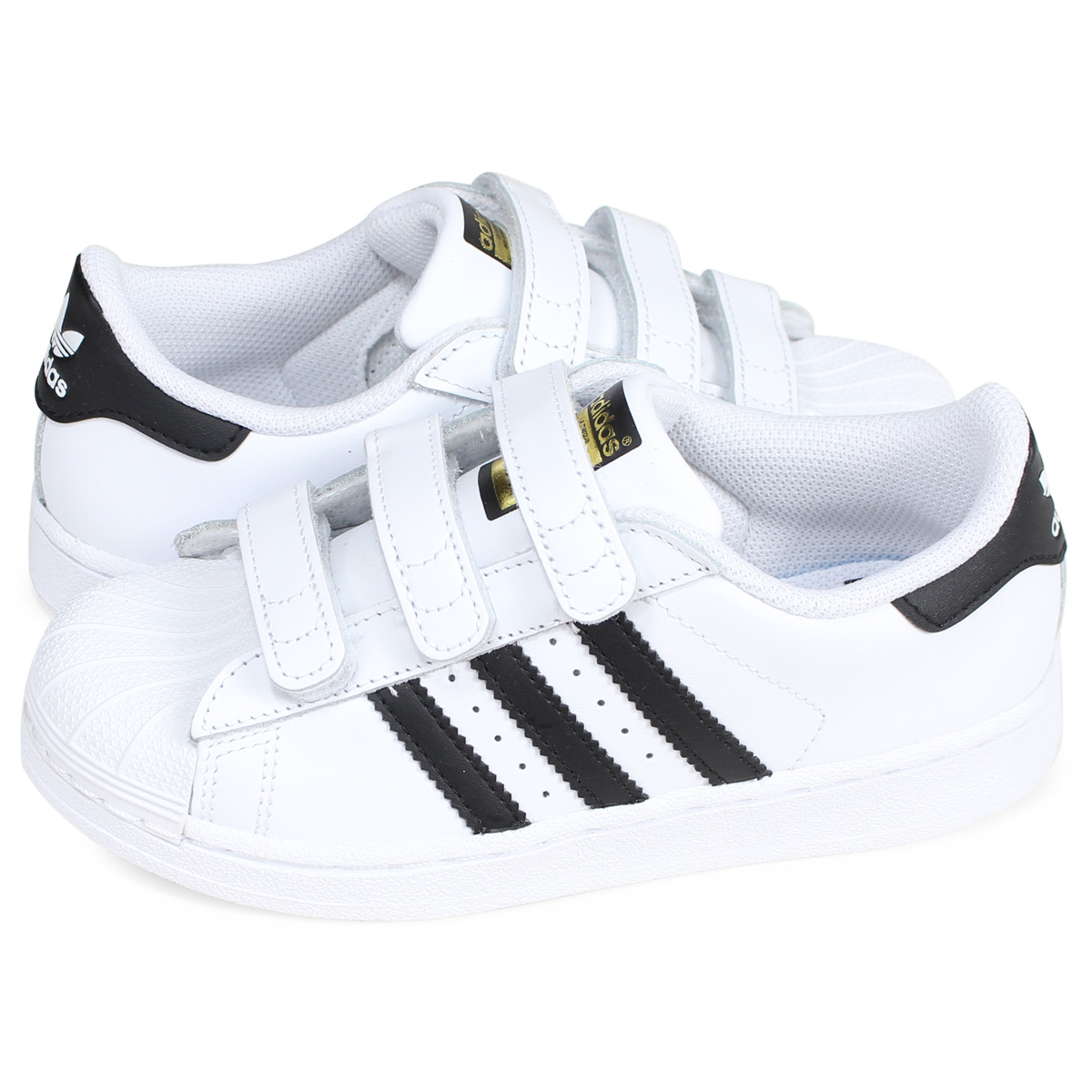 adidas Originals SUPERSTAR FOUNDATION CF C Adidas originals superstar sneakers kids Velcro white white B26070
