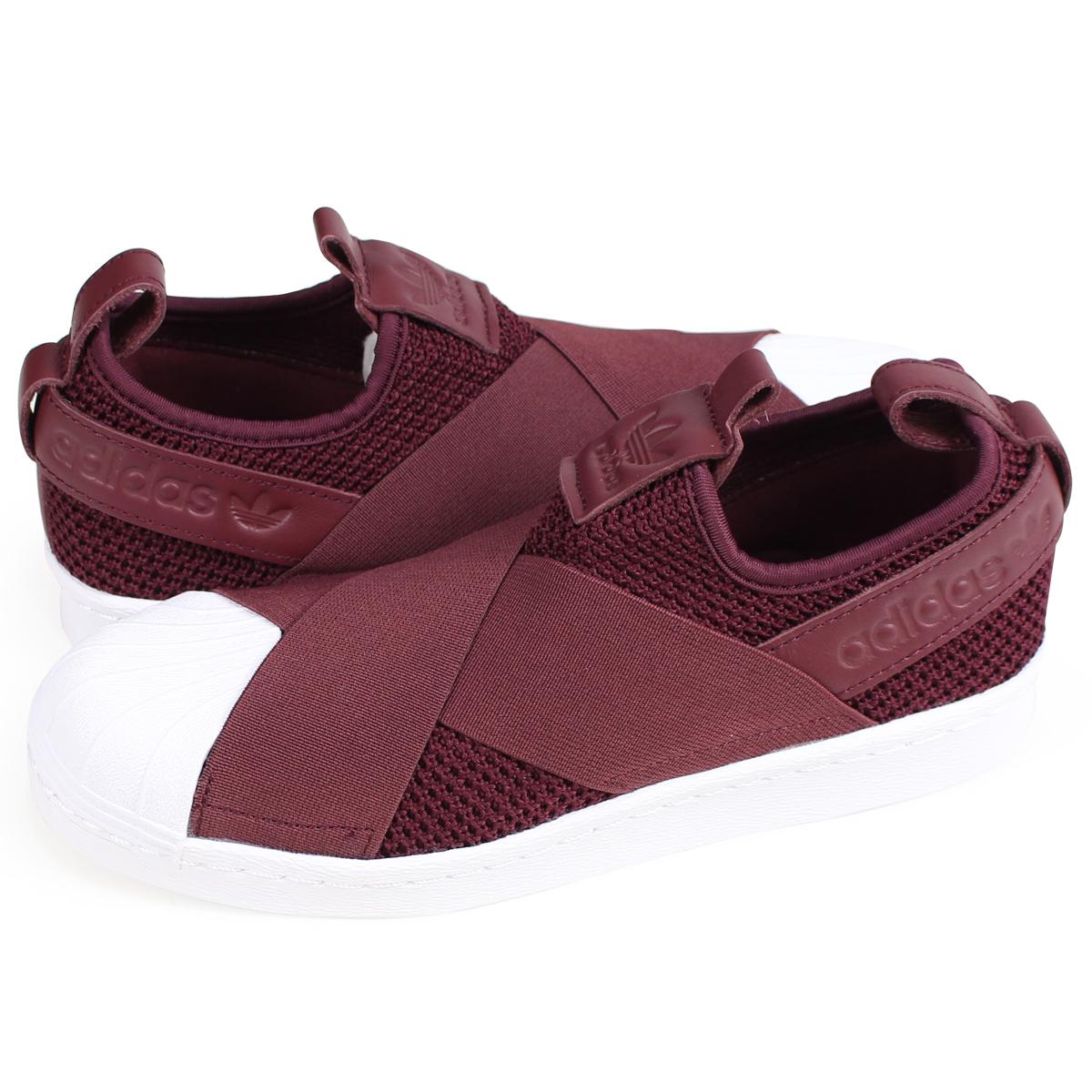 reputable site 13741 b1dc0 adidas Originals SUPERSTAR SLIP-ON W Adidas originals superstar Lady's  sneakers slip-ons B37371 burgundy [9/13 Shinnyu load]