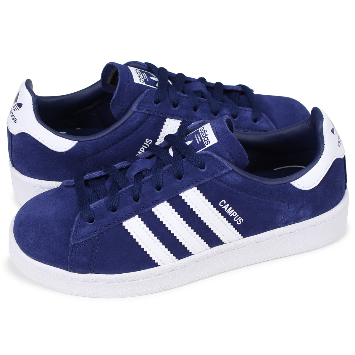adidas Originals CAMPUS C Adidas original scan pass kids sneakers BY9593 blue [load planned Shinnyu load in reservation product 8/14 containing]