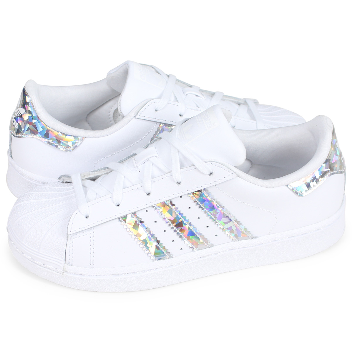 more photos 9be12 dfa5e adidas Originals SUPER STAR C Adidas originals superstar sneakers kids  white CG6708 [load planned Shinnyu load in reservation product 2/15  containing]