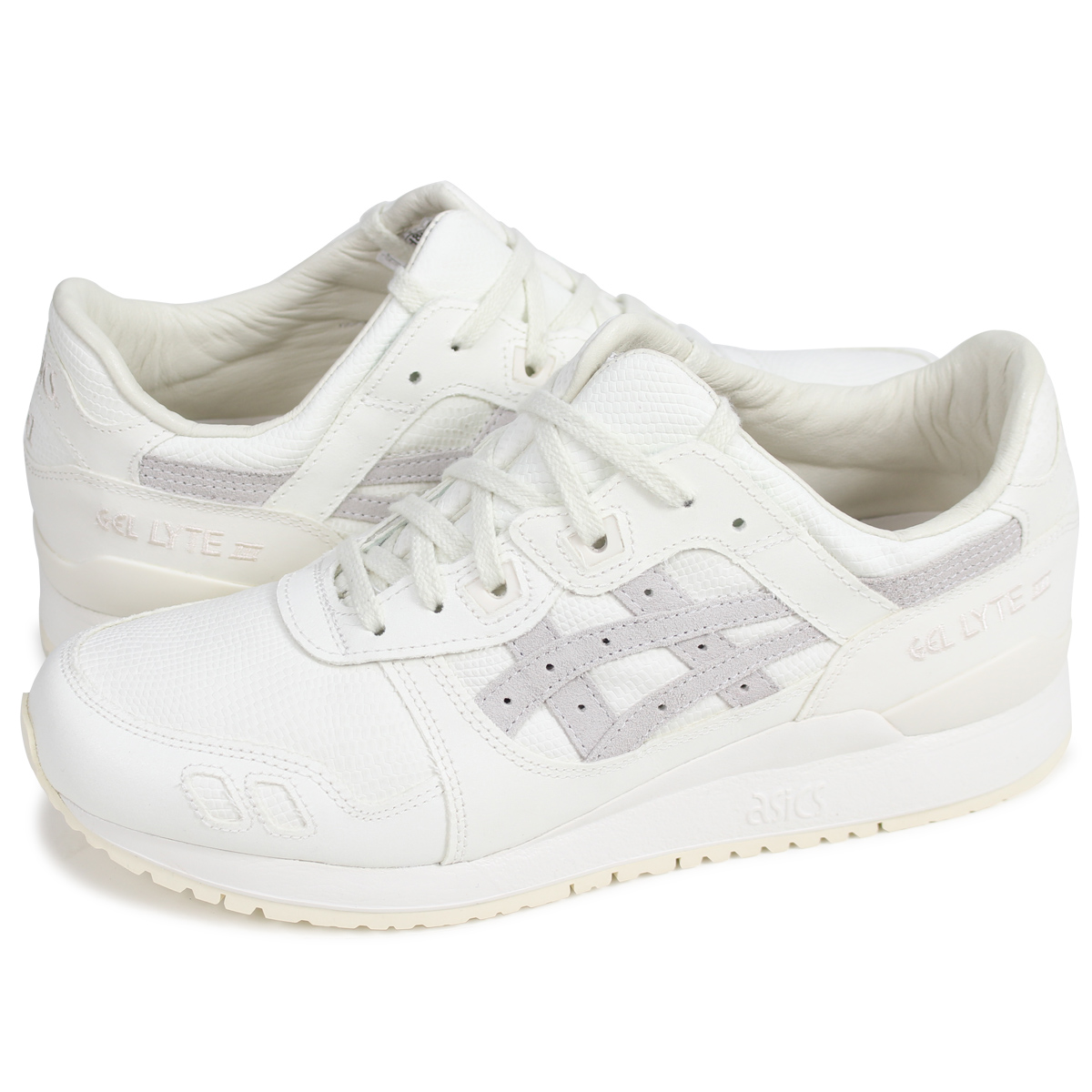 low priced 4d6ca 7a358 asics Tiger GEL-LYTE III ASICS tiger gel light 3 sneakers H842N-0000 men  off-white [load planned Shinnyu load in reservation product 3/20 containing]