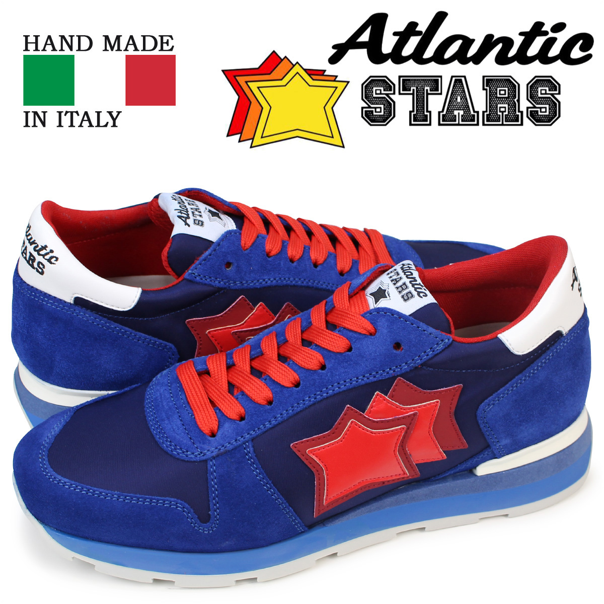 Atlantic STARS SIRIUS アトランティックスターズ メンズ スニーカー ブルー レッド シリウス MN 83B 靴