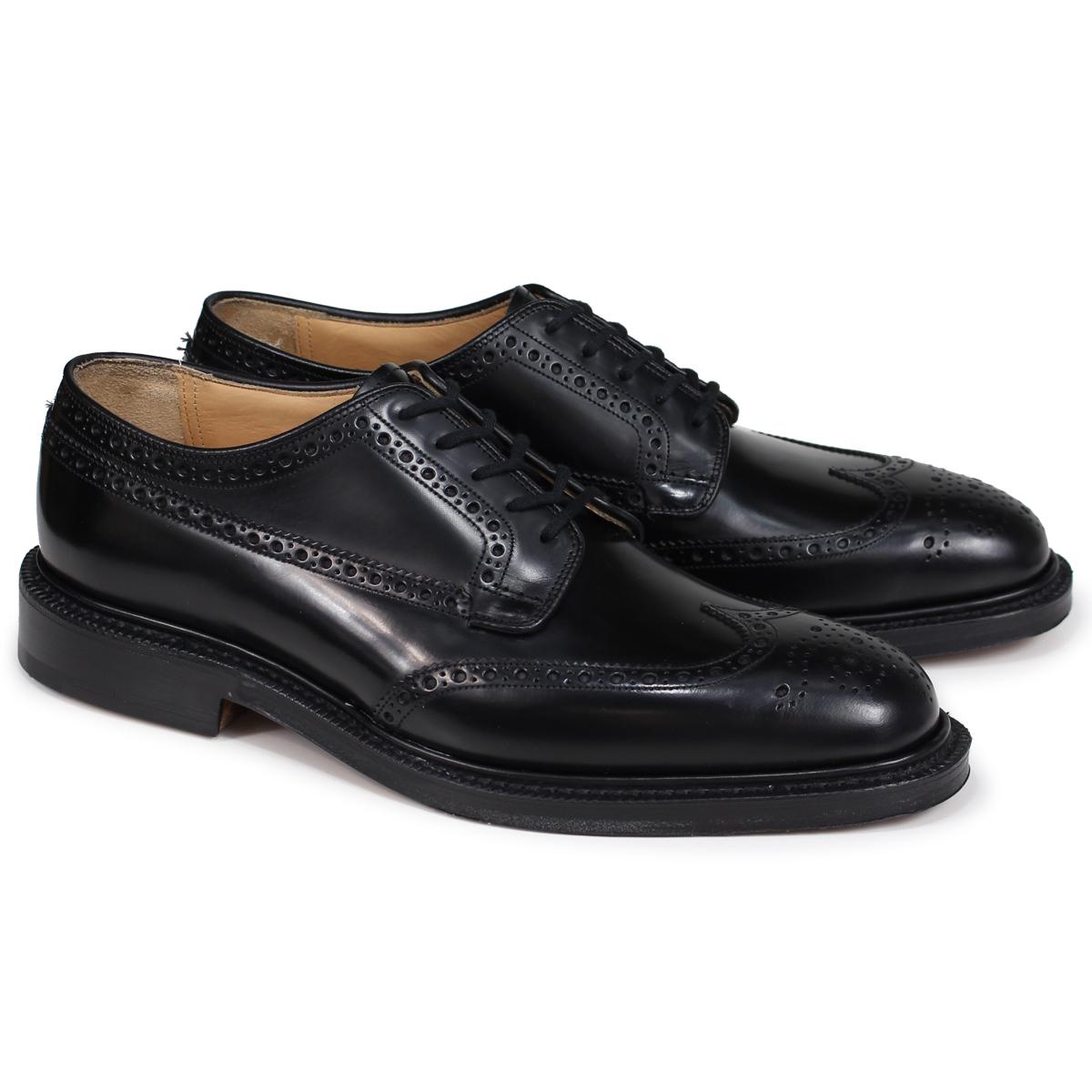 Churchs GRAFTON チャーチ 靴 グラフトン ウイングチップ シューズ メンズ レザー ブラック EEB009
