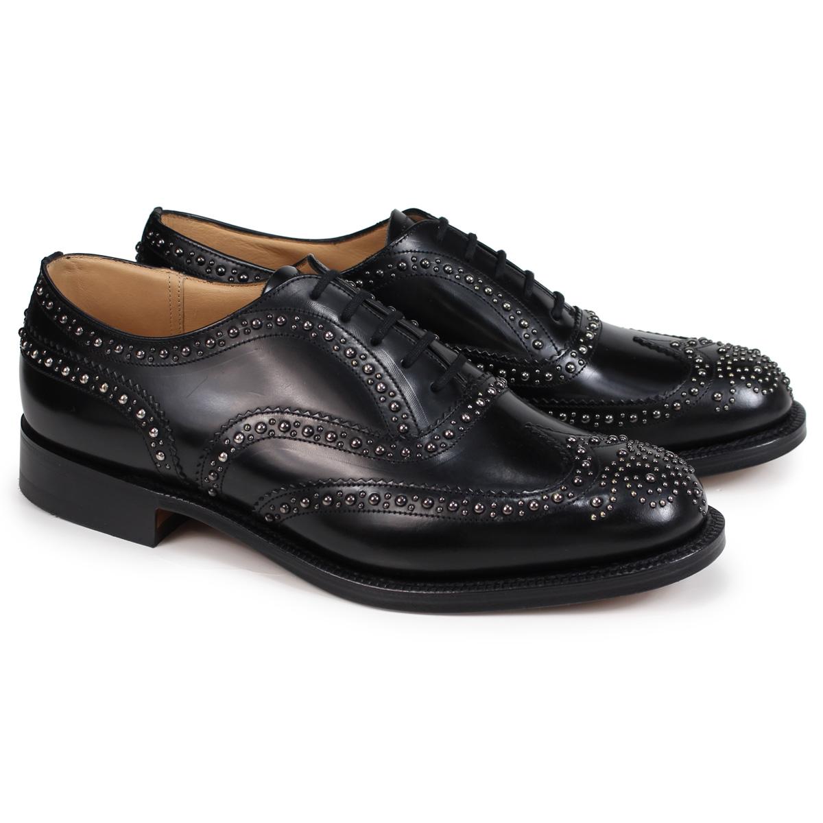 Church's BURWOOD 2S POLISHED BINDER チャーチ 靴 バーウッド 2S ウイングチップ シューズ メンズ EEB012 スタッズ ブラック